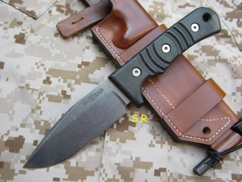 Wilkins Military Knife, Bushcraft-Lederscheide, light brown (1)